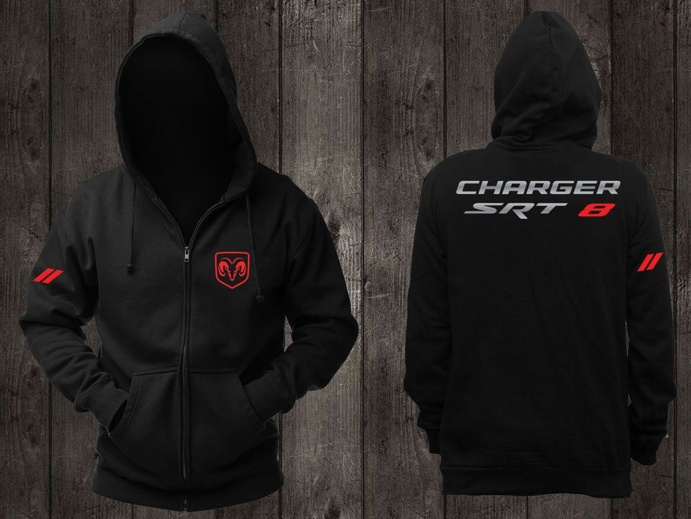 New Hoodie Sweatshirts Hooded Black Dodge Charger Srt 8 Challenger Hellcat Demon Fashion Clot Sweatshirts Hoodie Hooded Jacket Sweatshirts Hooded Sweatshirts