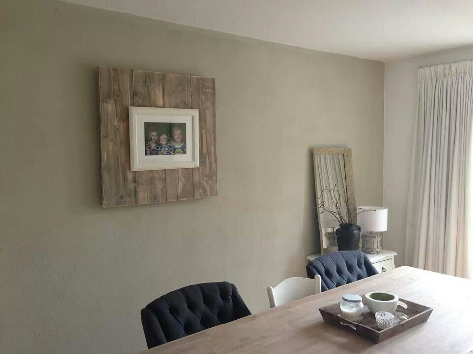 Iets Nieuws Steigerhouten bord met fotolijst.. simpel zelf te maken (diy @FV47