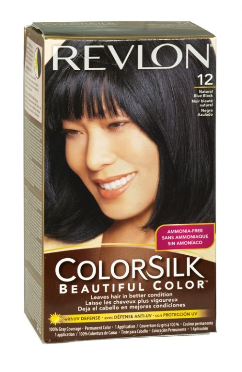 Revlon Colorsilk Hair Colour 12 Natural Blue Black Revlon