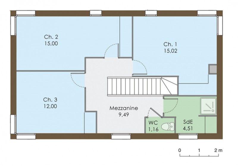 Plan maison  1er étage\u003cbr /\u003e\u003cbr /\u003eCet étage est plus classique