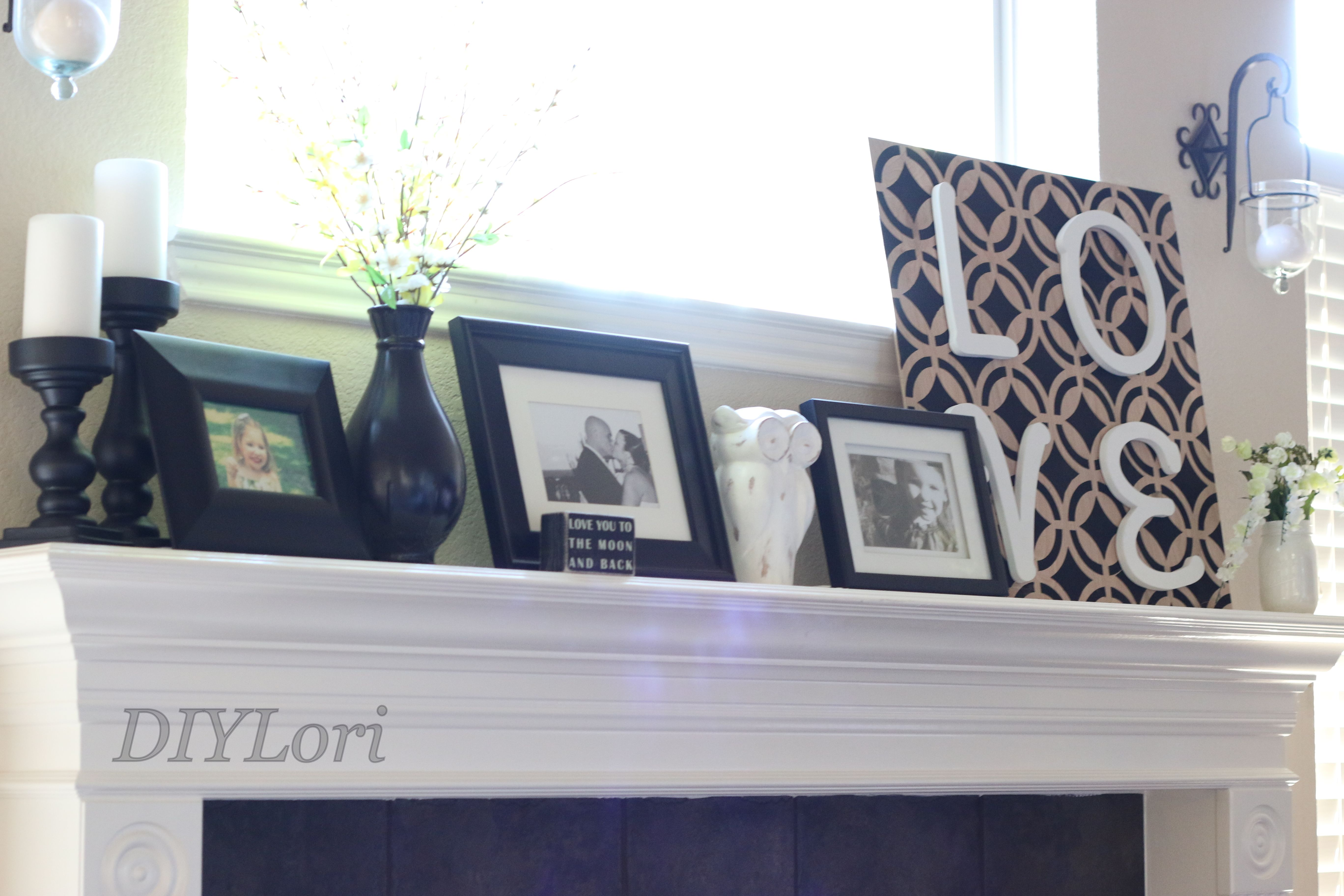 Mantle Decor #DIYLori
