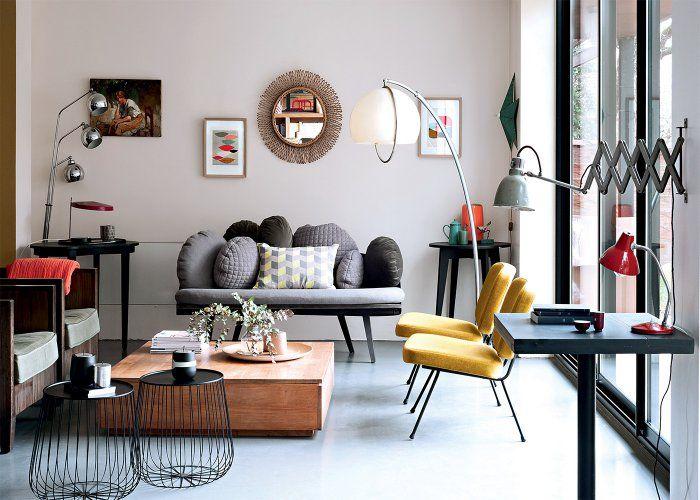 Des salons modernes qui mixent les styles | Salons, Mixers and ...