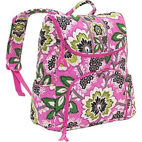 20305cb568  ManillaBack2School Vera Bradley Double Zip Backpack Priscilla Pink - Priscilla  Pink - via eBags.
