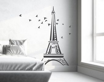 Etonnant Items Similar To Eiffel Tower Wall Decal Large Highly Detailed Add A Touch  Of Paris To