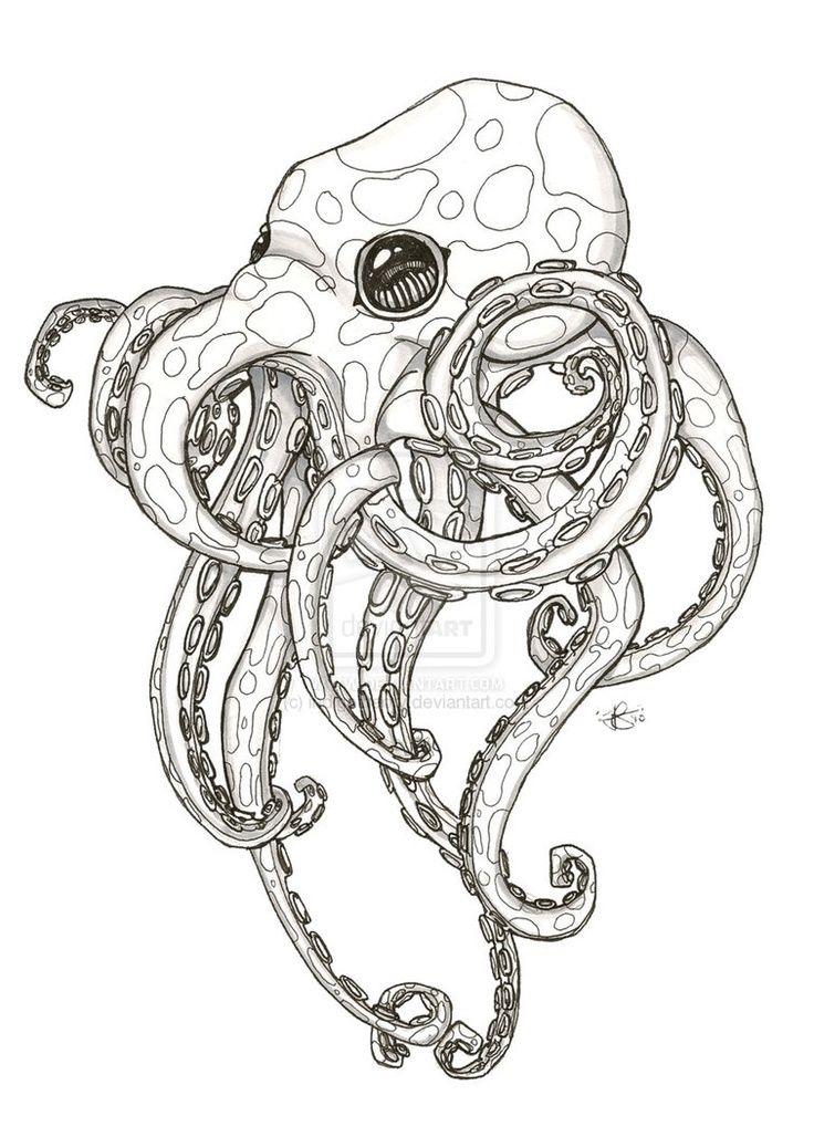 octopus tattoo | color in | Pinterest | Radierung, Tattoo ideen und ...