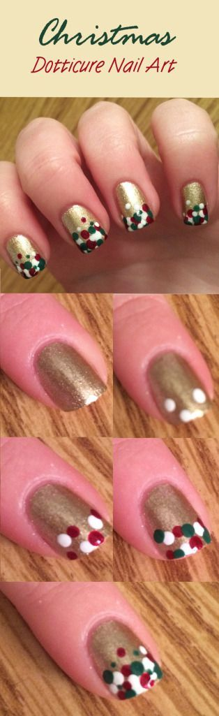 Christmas Dotticure Nail Art Tutorial Pinterest Opi Alpine Snow