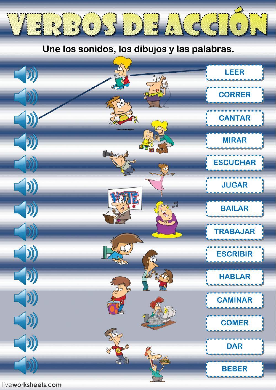 Verbos de acción interactive and downloadable worksheet. You can do ...