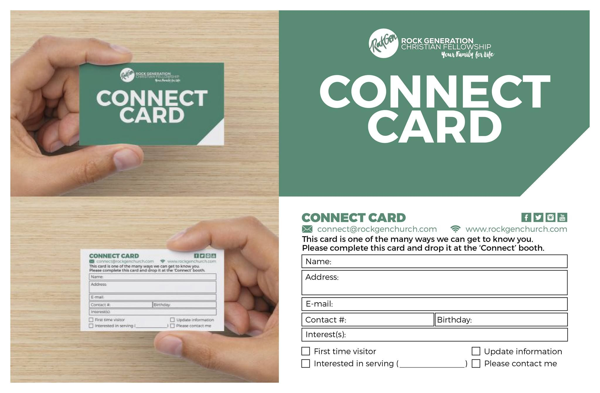 11 Awesome Church Connection Card Examples