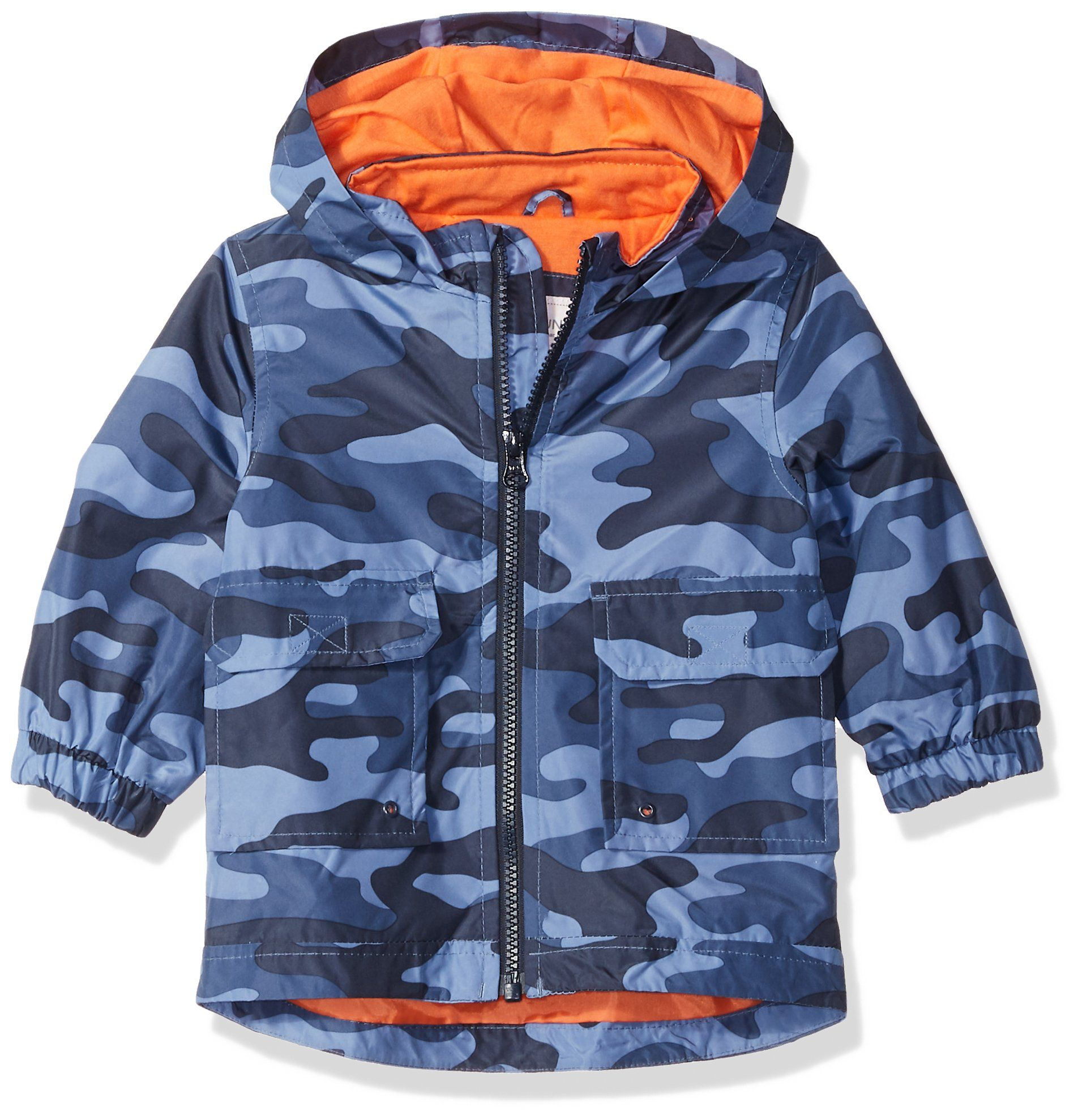 66e0f4304c32 Carters Baby Boys His Favorite Rainslicker Rain Jacket Blue camo 12M ...