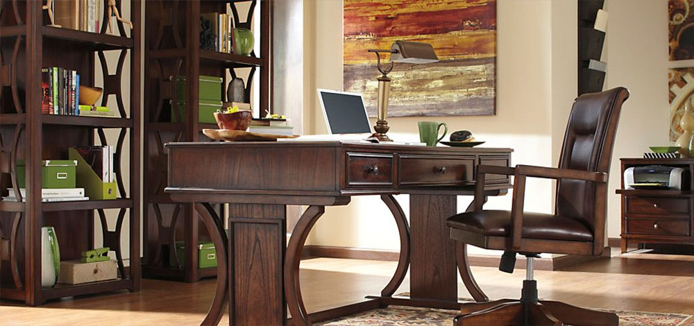 signature design by ashley devrik home office desk with drop down keyboard tray pilgrim furniture city table desk hartford bridgeport connecticut