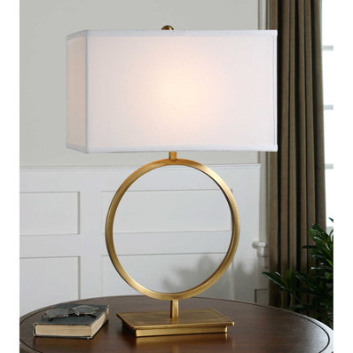 Brass Ring Table Lamp In 2020 Metal Table Lamps Table Lamp