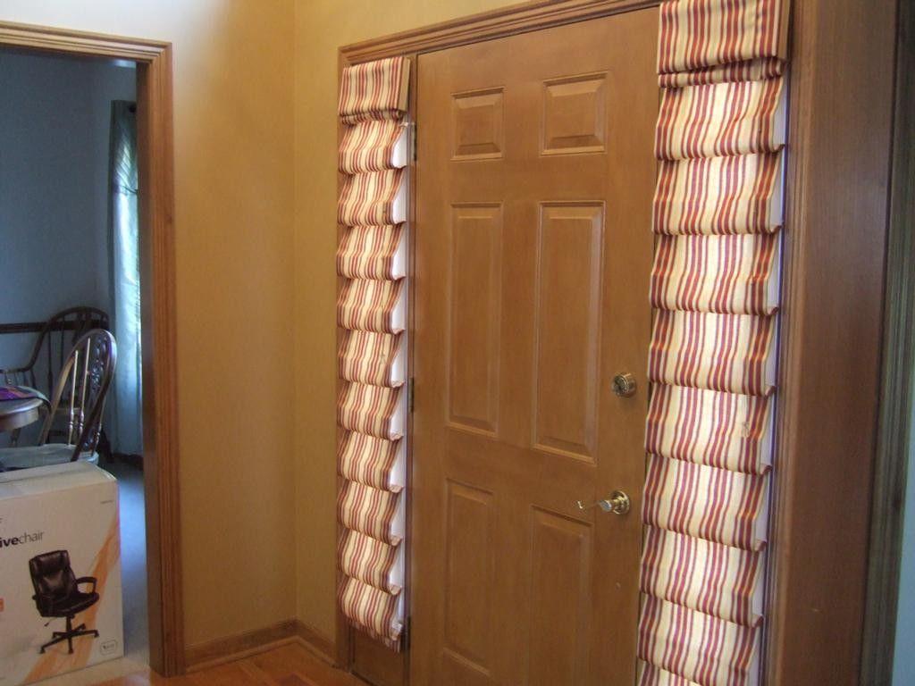 Front door side window treatments - Beautiful Front Door Side Window Curtains How To Make Sidelight Window Treatments Front Door Side