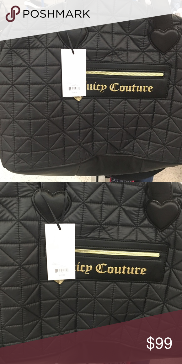 Juicy Couture Starburst Black Quilted Weekender New Juicy Couture Bags b01a9b5a5