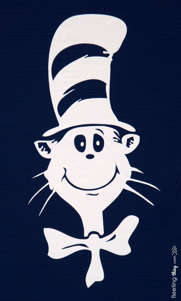 Dr Seuss Hat Silhouette : seuss, silhouette, Fleetingthing, Seuss, (Silhouette, Downloadable), Silhouette, Crafts,