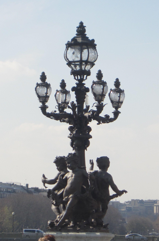 Lamp Post In Paris Arandelas Externas Iluminacao Publica