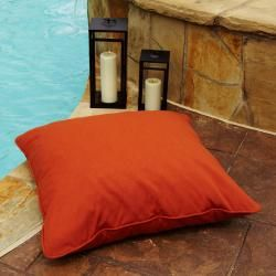 Clara Indoor Outdoor 26 Inch Square Sunbrella Floor Pillow 26