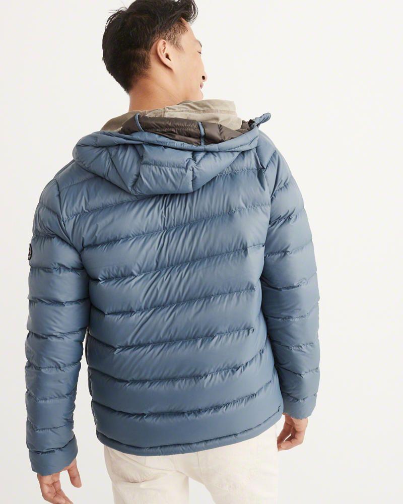 A F Men S Down Filled Packable Puffer Coat In Blue Size Xxl [ 1000 x 800 Pixel ]