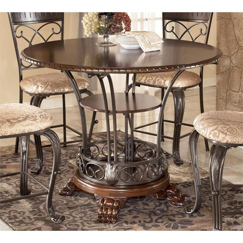 Ashley Furniture Round Dining Table Seat 6 Ashley Furniture Industries Round Dining Room Counter Metal Dining Table Kitchen Table Settings Round Dining Room
