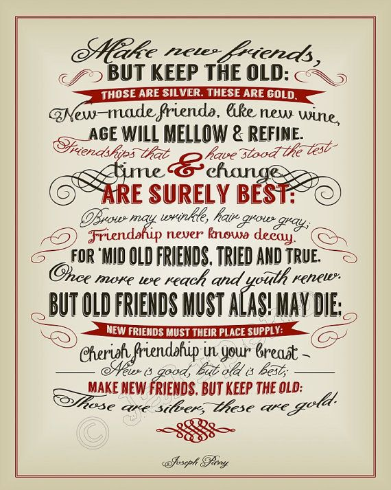 New Friends Old Friends Joseph Parry Quote INSTANT DOWNLOAD Magnificent Download Best Friend Farewell Quotes