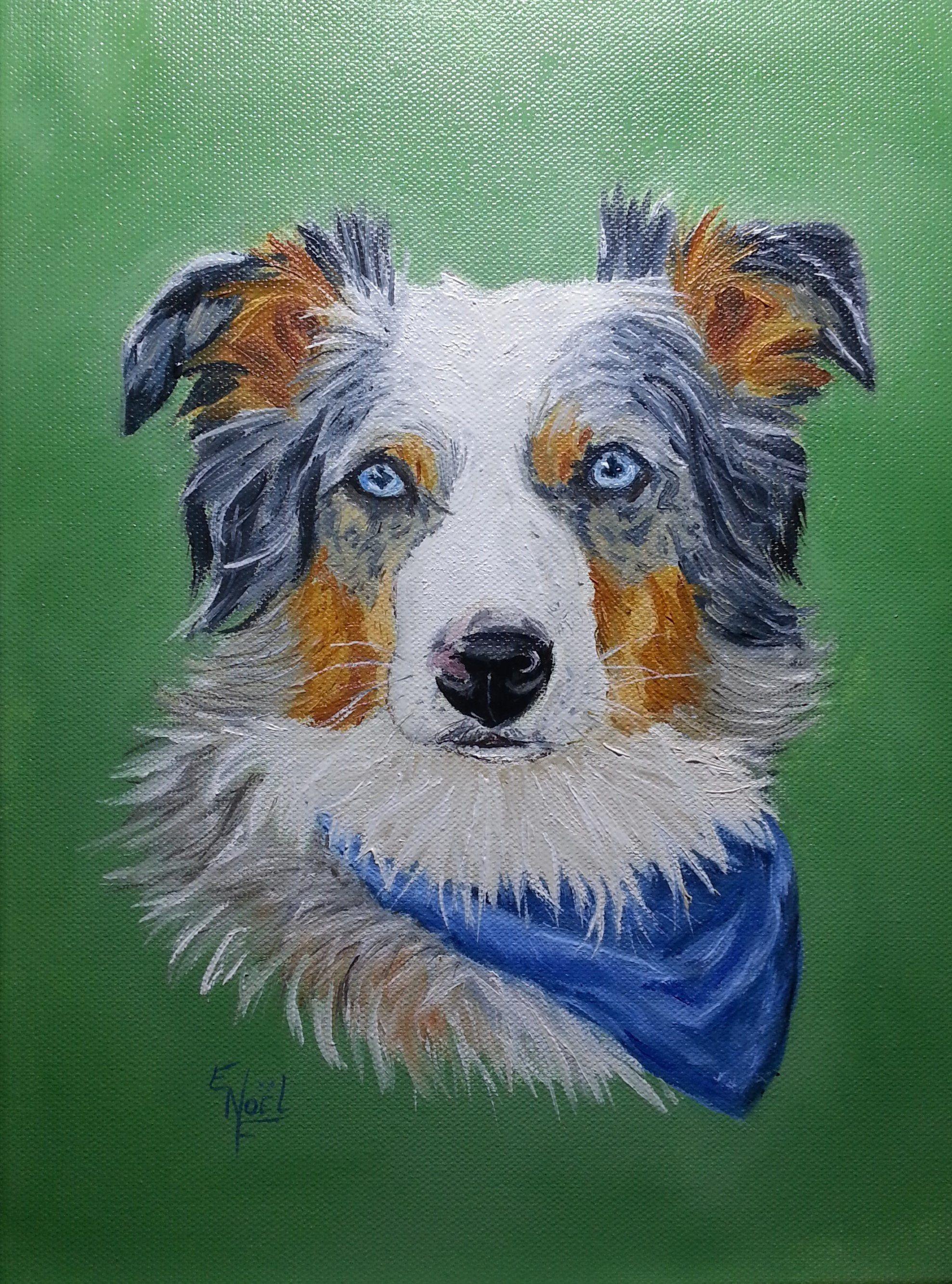 Pet Portrait from Photo, Custom Pet Portraits, Dog