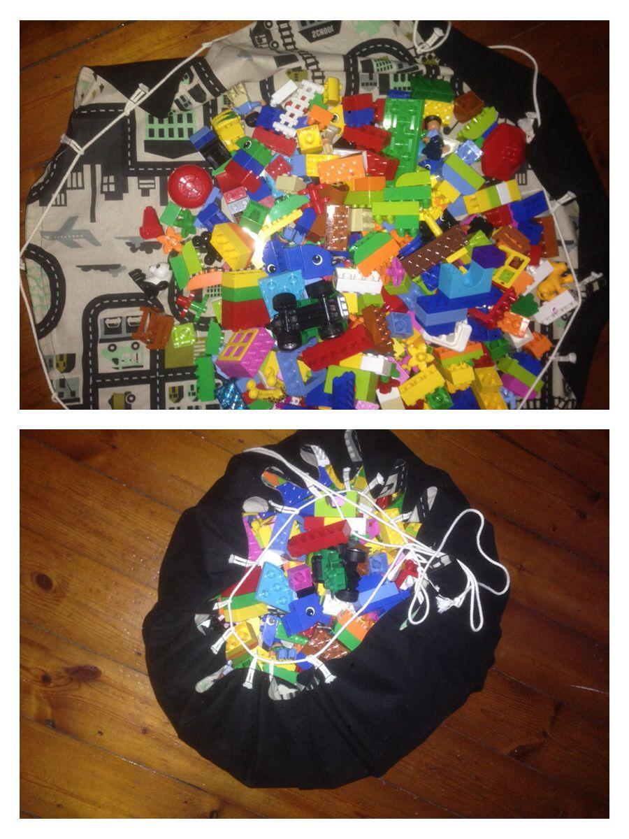 Lego Sack lego legepose med vejnet lavet af farmor lego mat lego sack ideer