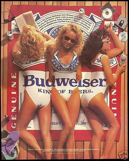 73cbef7431ebf 3 Pretty Women Swimsuit Budweiser Beer (1988) i remember this poster from way  back in the cut!!
