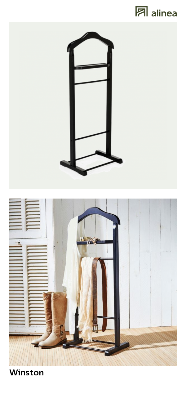 Alinea : Winston Valet / Porte Vêtement Noir En Bois Déco Organisation Et  Rangement Accessoires