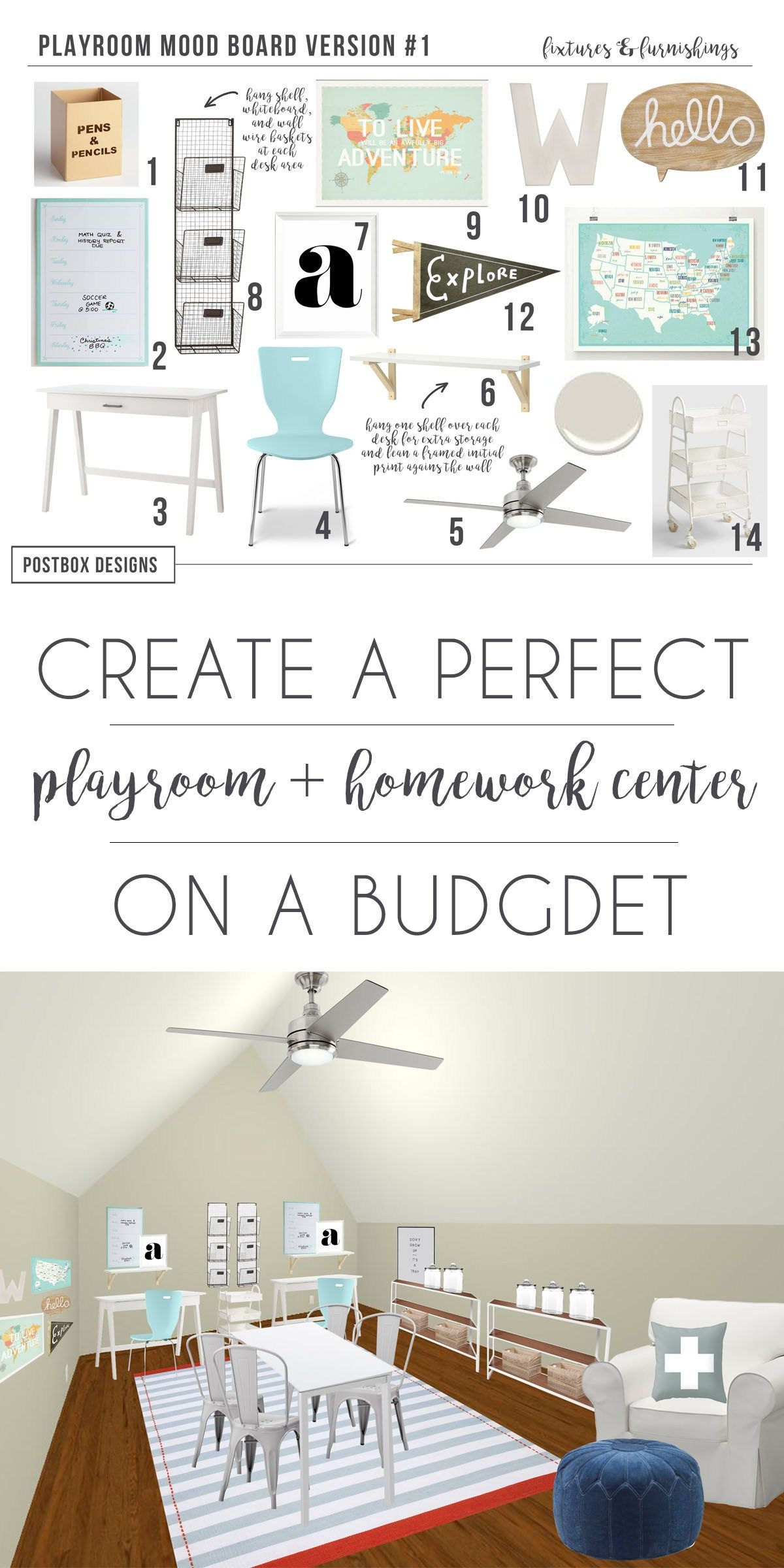 Postbox designs interior  design kid   playroom homework station decor ideas online also transforming  home with an plan rh br pinterest