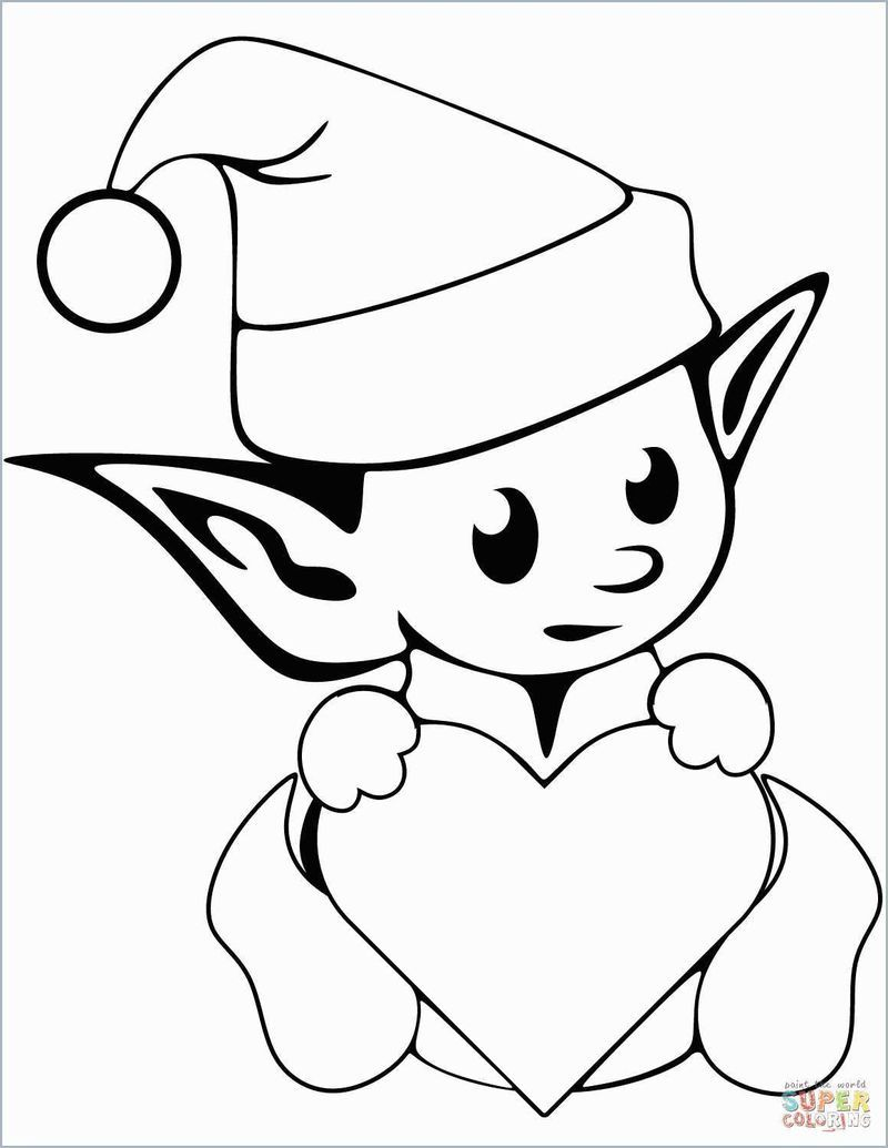 Elf Coloring Pages Printable Printable christmas