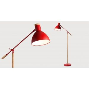 cohen un lampadaire rouge et ch ne lampadaire salon pinterest lampadaires. Black Bedroom Furniture Sets. Home Design Ideas