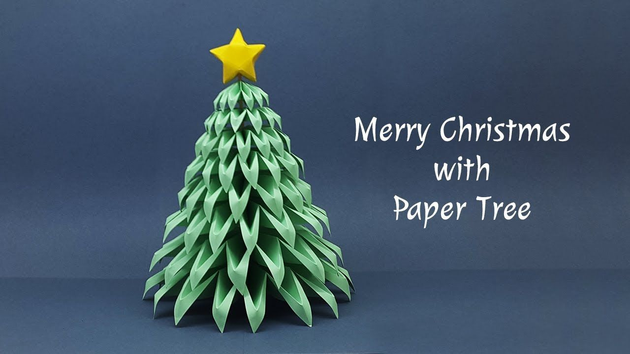 Diy Paper Christmas Tree Making At Home Christmas Crafts Ideas Merry Christmas It S A Complete Video Diy Paper Christmas Tree Paper Christmas Tree Diy Paper