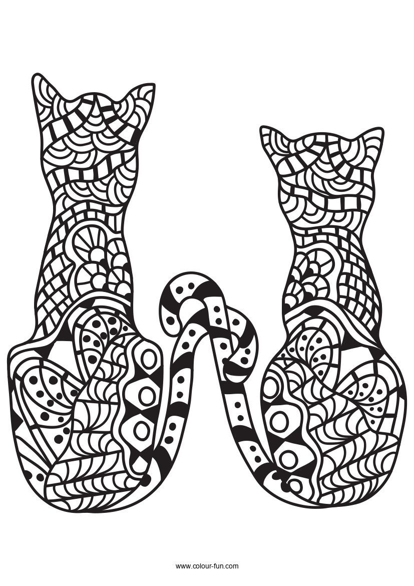 Free Pdf Downloads With A Single Click Click On The Image To Go To The Download Page Zentanglecats Coloring Pages Cat Coloring Page Animals Black And White [ 1170 x 827 Pixel ]