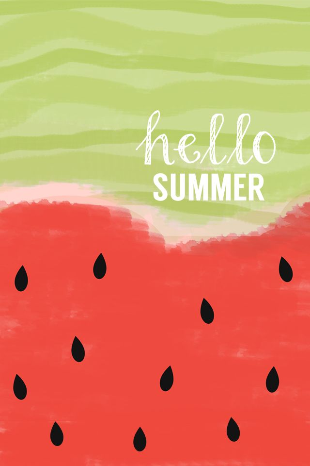 watercolor summer print hello summer watermelon