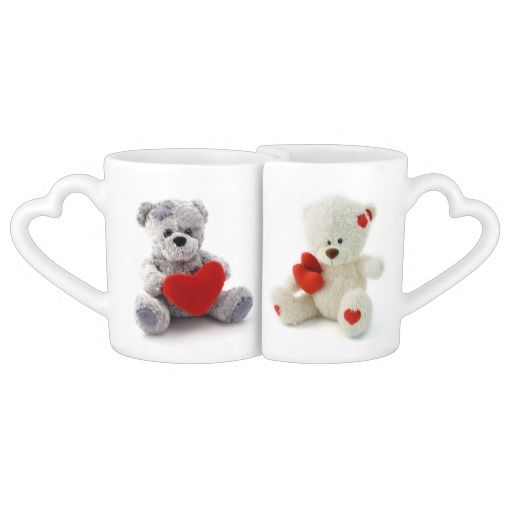 Funny Valentines Day Teddy Bears Couple Mugs