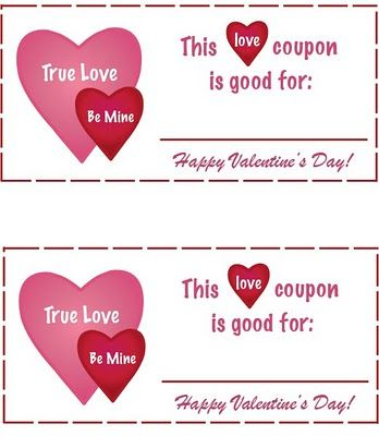 Free Printable Valentines Day Love Coupons Gift Certificate @Party - printable vouchers
