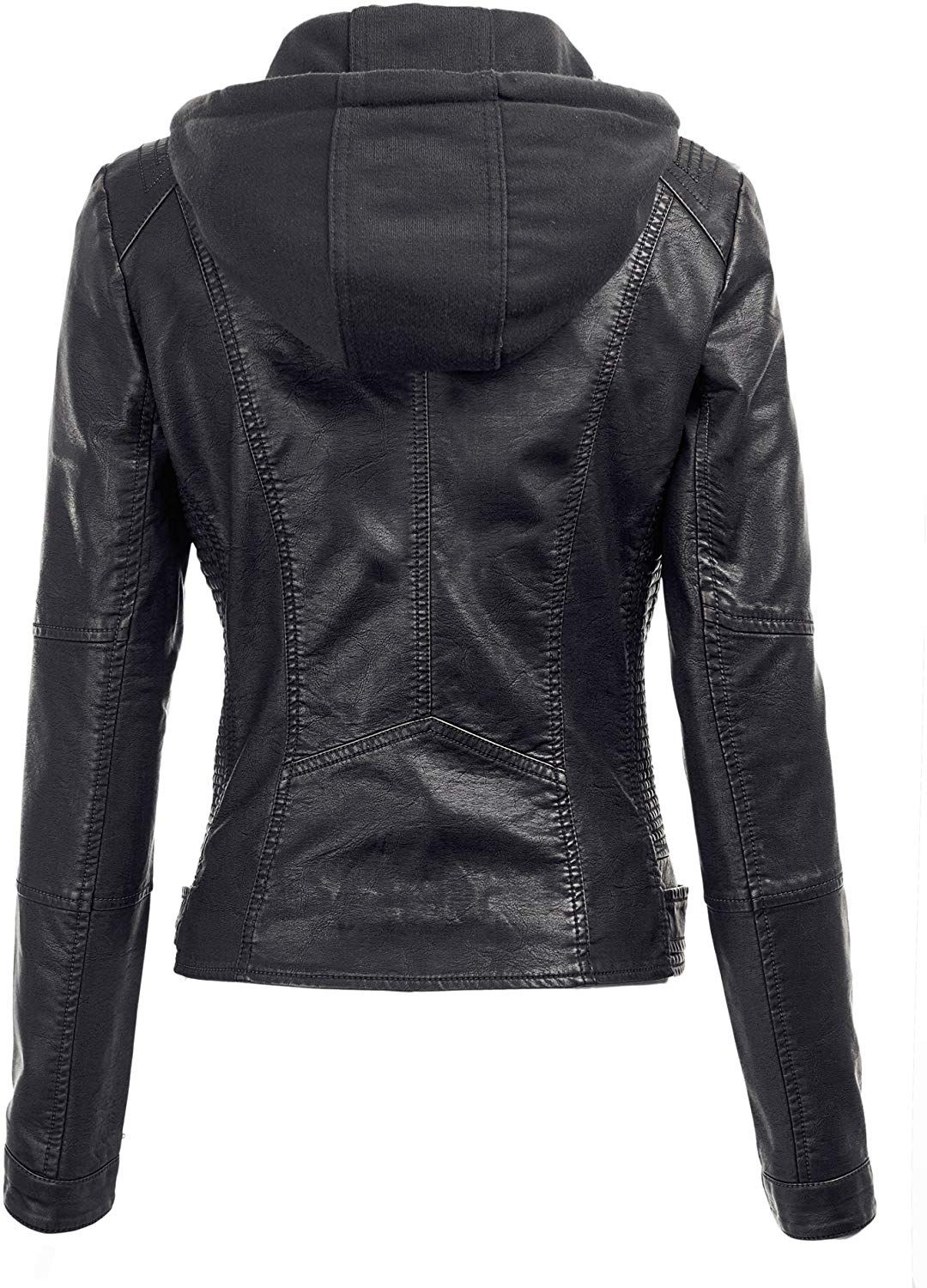 Made By Johnny WJC1044 Womens Faux Leather Quilted