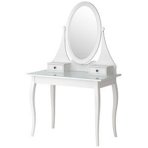 Hemnes Snyrtiborð Með Spegli 100x50 Cm Hvítt Dressing Table Mirror Ikea Diy