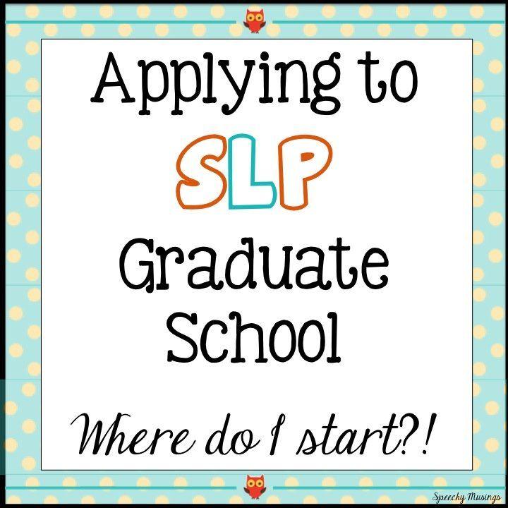 Applying to SLP Graduate School Where Do I Start School, Language