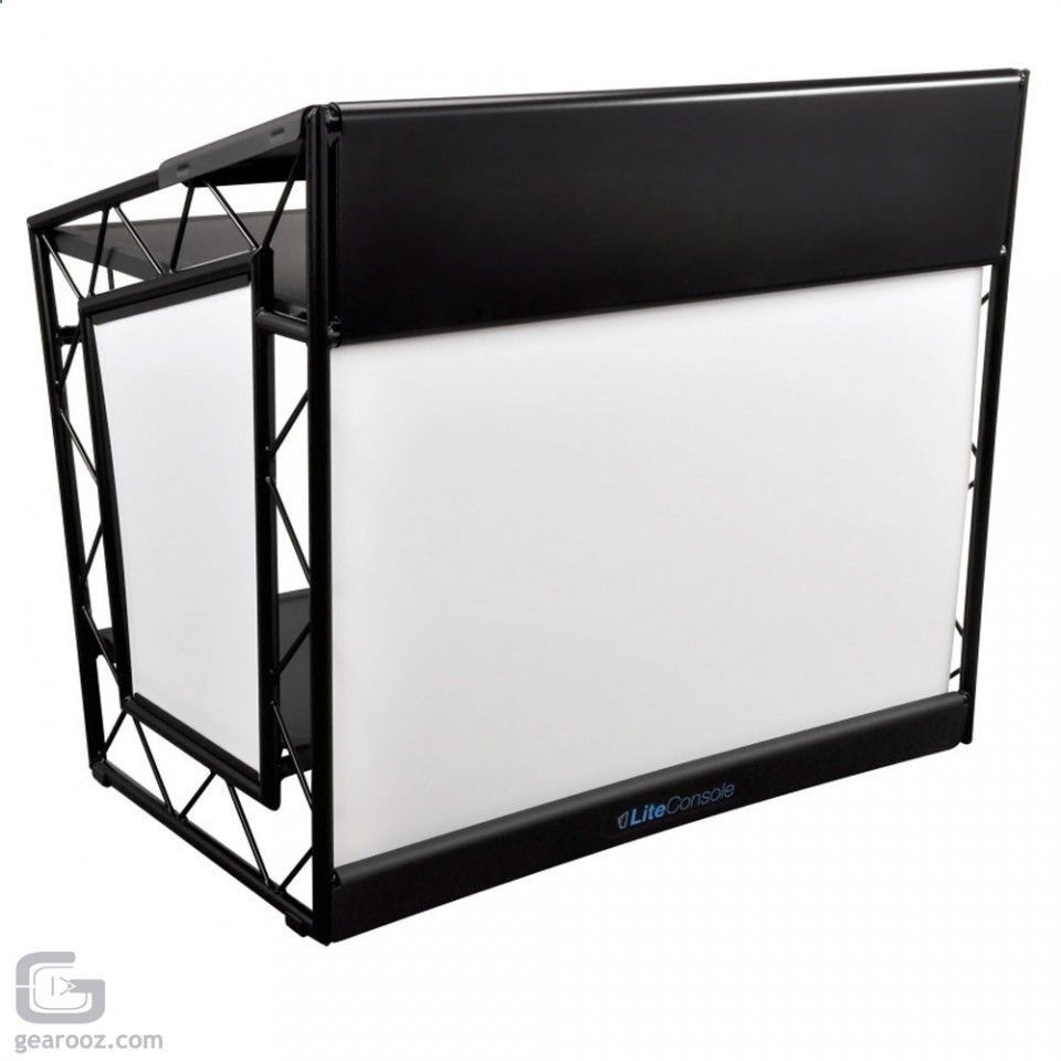 Liteconsole Xprs Black Foldable Mobile Dj Booth Club Trussing