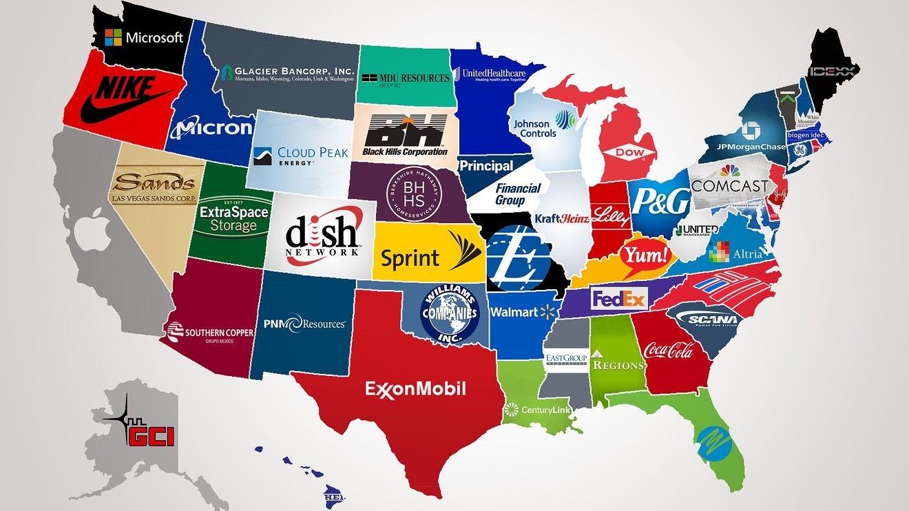 A map of the largest company in