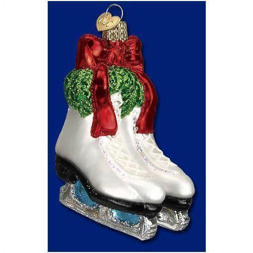 Merck Family Old World Christmas Glass Ornament, Ice Skates - Merck Family Old World Christmas Glass Ornament, Ice Skates The O