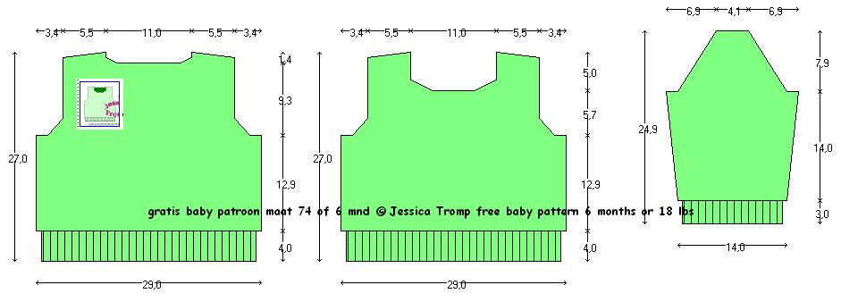 Babymaat 74 Trui Patroon 37gratis Baby Breipatronen Leuke