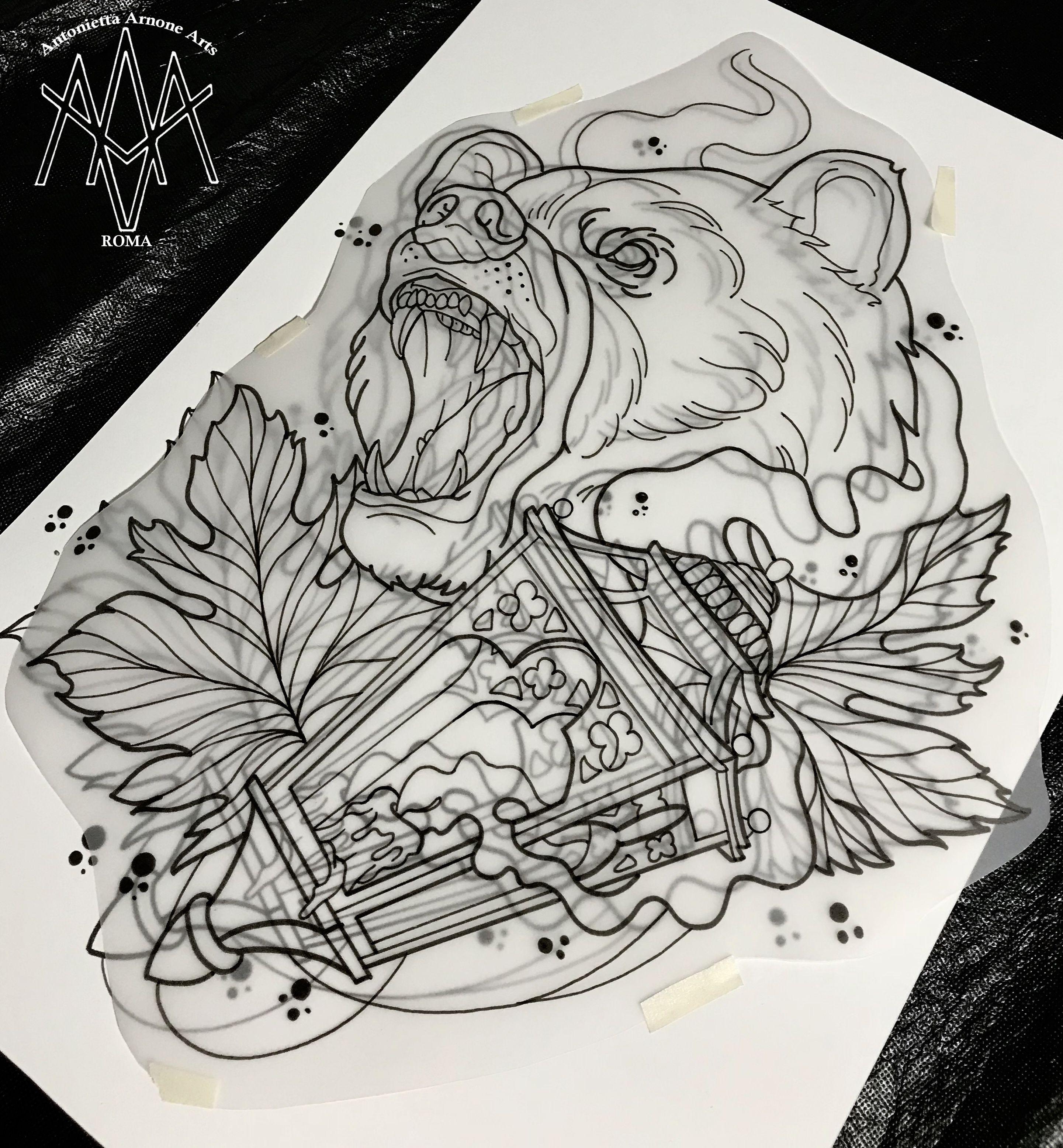 #bear #beartattoo #tattoobear #antoniettaarnonearts