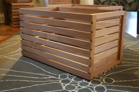 Reclaimed Sapele Slatted Crate Shown As A Pair Price Is