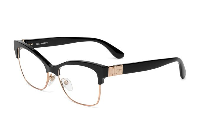 de1cdc73304 Women s eyeglasses DG3272 with black square frame combined with pink gold  metal and Dolce Gabbana logo plaque on the temples. Discover more online.