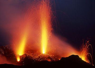 صور مدهشة لثوران بركان ل ب كره