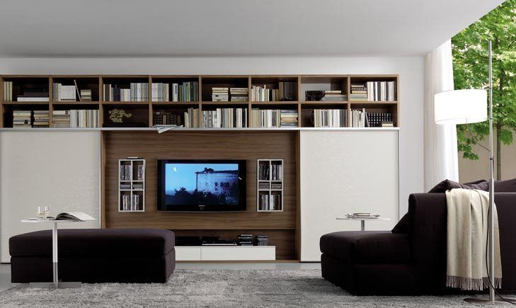 home theatre open living room tv wall panel - Tv Wall Panels Designs