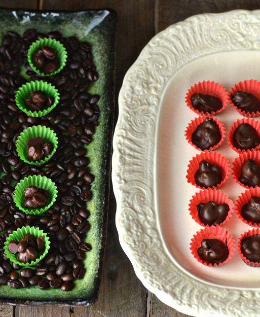 DIY Chocolate Covered Coffee Beans #chocolatecoveredcoffeebeans
