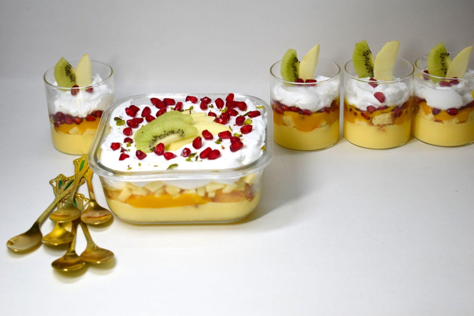 Custard Trifle Fruit Custard Trifle Easy Tasty Trifle Recipe Custard Recipes Trifle Recipe Fruit Trifle Recipes
