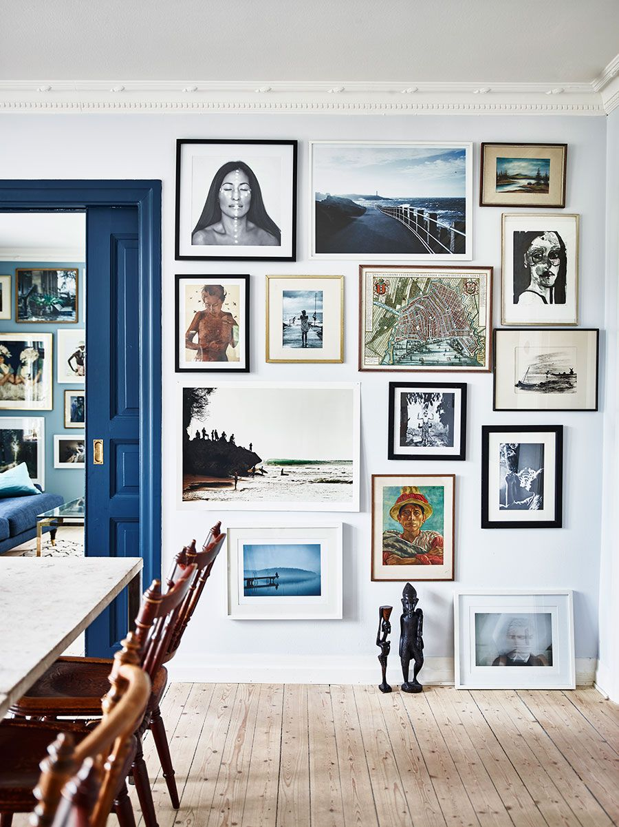 Love this super groovy gallery wall. | Home Design | Pinterest ...